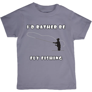 I'd Rather Be Fly Fishing! Novelty Short Sleeve Youth T-Shirt