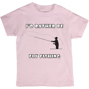 I'd Rather Be Fly Fishing! Novelty Short Sleeve Youth T-Shirt - CampWildRide.com