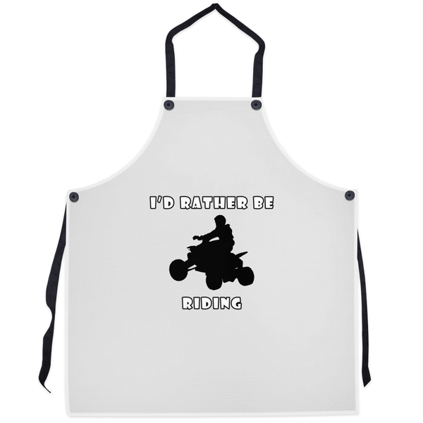 I'd Rather Be Riding my ATV! Novelty Funny Apron