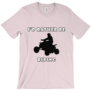 I'd Rather Be Riding my ATV! Novelty Short Sleeve T-Shirt - CampWildRide.com