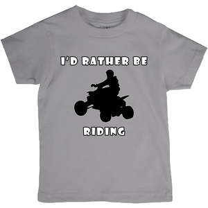 I'd Rather Be Riding my ATV! Novelty Short Sleeve Youth T-Shirt - CampWildRide.com