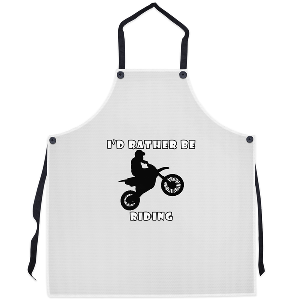 I'd Rather Be Riding my Motorcycle! Novelty Funny Apron