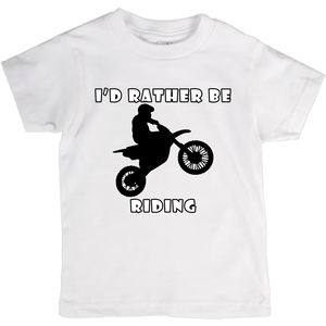I'd Rather Be Riding my Motorcycle! Novelty Short Sleeve Youth T-Shirt