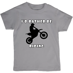 I'd Rather Be Riding my Motorcycle! Novelty Short Sleeve Youth T-Shirt - CampWildRide.com