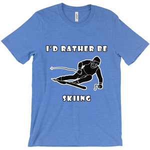 I'd Rather Be Skiing! Novelty Short Sleeve T-Shirt - CampWildRide.com