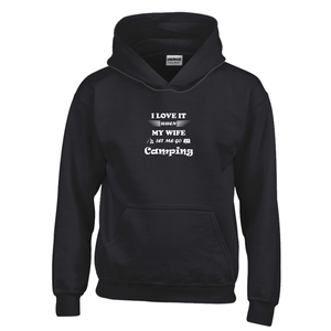 Wife Lets Me Go Camping! Novelty Youth Hoodies (No-Zip/Pullover) - CampWildRide.com
