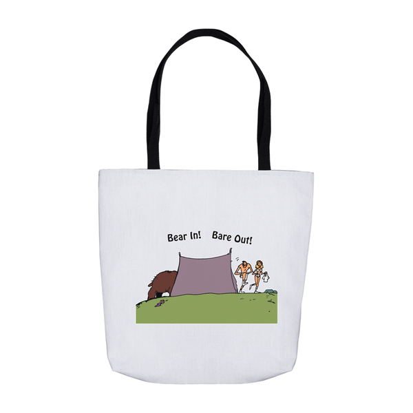 Bear In! Bare Out! Novelty Funny Tote Bag Reusable