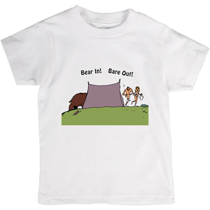 Bear In! Bare Out! Novelty Short Sleeve Youth T-Shirt