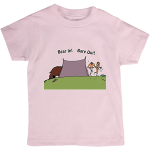 Bear In! Bare Out! Novelty Short Sleeve Youth T-Shirt - CampWildRide.com