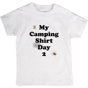 My Camping Shirt Day 2! Novelty Short Sleeve Youth T-Shirt - CampWildRide.com