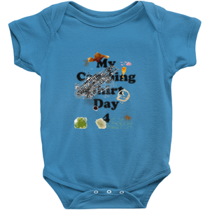My Camping Shirt Day 4! Novelty Infant One-Piece Baby Bodysuit - CampWildRide.com