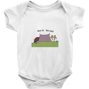Bear In! Bare Out! Novelty Infant One-Piece Baby Bodysuit