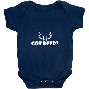 Got Deer? Nice Rack! Novelty Infant One-Piece Baby Bodysuit - CampWildRide.com