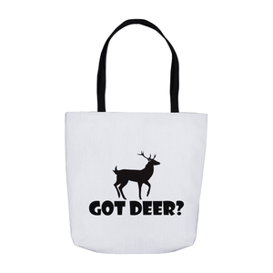 Got Deer? Stand Still! Novelty Funny Tote Bag Reusable - CampWildRide.com