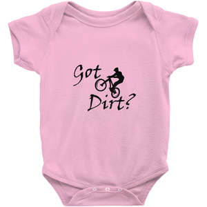 Got Dirt? Fun on a Mountain Bike! Novelty Infant One-Piece Baby Bodysuit - CampWildRide.com
