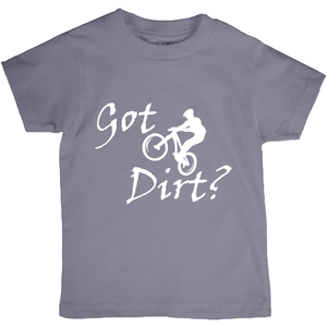 Got Dirt? Fun on a Mountain Bike! Novelty Short Sleeve Youth T-Shirt