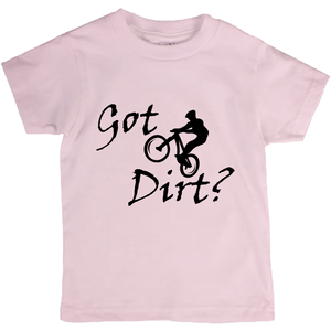 Got Dirt? Fun on a Mountain Bike! Novelty Short Sleeve Youth T-Shirt - CampWildRide.com