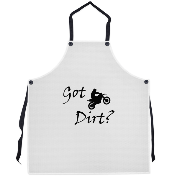 Got Dirt? Fun on a Motorcycle! Novelty Funny Apron - CampWildRide.com