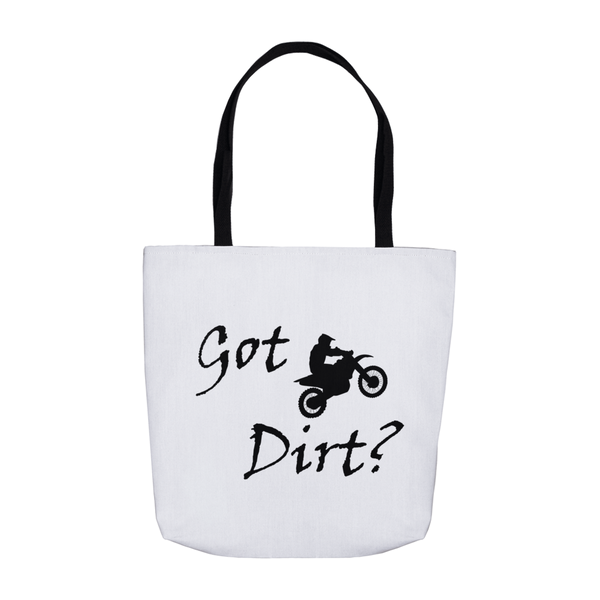 Got Dirt? Fun on a Motorcycle! Novelty Funny Tote Bag Reusable