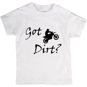 Got Dirt? Fun on a Motorcycle! Novelty Short Sleeve Youth T-Shirt