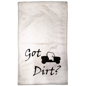 Got Dirt? Fun on a Side-by-Side! Novelty Funny Hand Towel