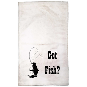Got Fish? Fly Fishing! Novelty Funny Hand Towel - CampWildRide.com