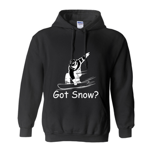 Got Snow? Shreddin with a Snowboard! Novelty Hoodies (No-Zip/Pullover) - CampWildRide.com