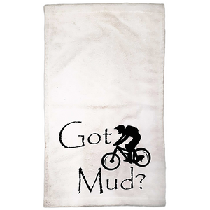 Got Mud? Fun on a Mountain Bike! Novelty Funny Hand Towel - CampWildRide.com