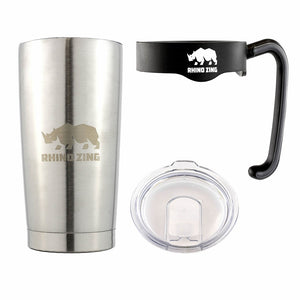 20 Oz Tumbler w/Handle Stainless Steel Travel Insulated Coffee Mug with Slide Lid - CampWildRide.com