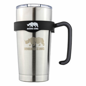 20 Oz Holder / Handle for the Rhino Zing Tumbler Coffee Mug Black - CampWildRide.com