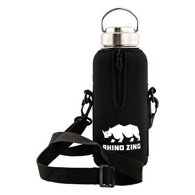 32 Oz Growler Stainless Steel Water Bottle w/Sleeve and Wide Mouth Stainless Steel Lid - CampWildRide.com