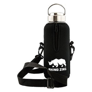 32 Oz Growler Stainless Steel Water Bottle w/Sleeve and Wide Mouth Stainless Steel Lid