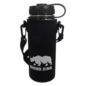 18 Oz Stainless Steel Water Bottle w/Sleeve and Wide Mouth Standard Lid - CampWildRide.com