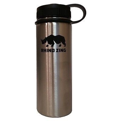 18 Oz Stainless Steel Water Bottle with Insulated Wide Mouth Standard Lid