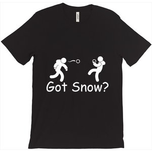 Got Snow? Snowball Fight! Novelty Short Sleeve T-Shirt