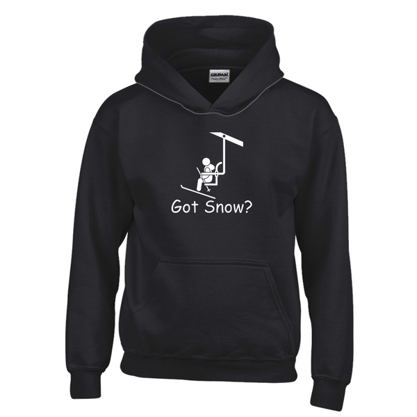 Got Snow? View from the Chair Lift! Novelty Youth Hoodies (No-Zip/Pullover)