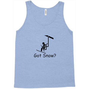 Got Snow? View from the Chair Lift! Novelty Tank Top T-Shirt - CampWildRide.com