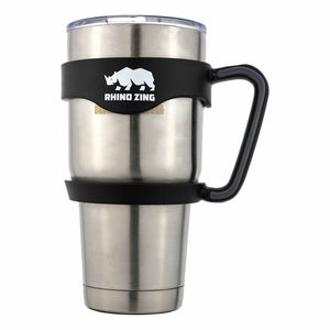 30 Oz Holder / Handle for the Rhino Zing Tumbler Coffee Mug Black - CampWildRide.com