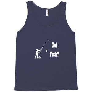 Got Fish? Fun with a Pole! Novelty Tank Top T-Shirt - CampWildRide.com