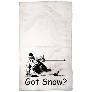 Got Snow? Tearing up the Powder! Novelty Funny Hand Towel - CampWildRide.com