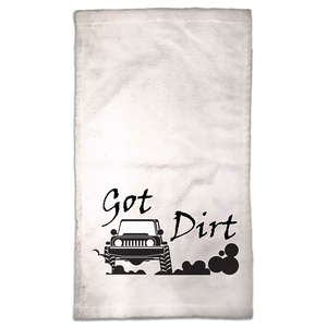 Got Dirt? Fun with your 4x4! Novelty Funny Hand Towel - CampWildRide.com