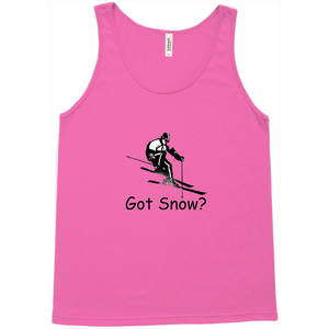 Got Snow? Downhill Skiing! Novelty Tank Top T-Shirt - CampWildRide.com