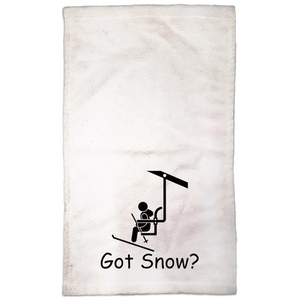 Got Snow? View from the Chair Lift! Novelty Funny Hand Towel