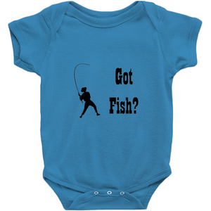 Got Fish? Work that Rod! Novelty Infant One-Piece Baby Bodysuit - CampWildRide.com