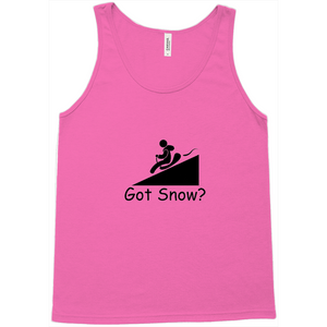 Got Snow? Let it Slide! Novelty Tank Top T-Shirt - CampWildRide.com