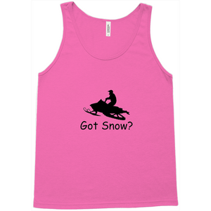 Got Snow? Escape on a Snowmobile! Novelty Tank Top T-Shirt - CampWildRide.com