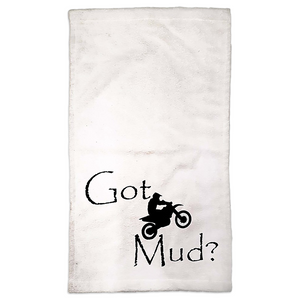 Got Mud? Fun on a Motorcycle! Novelty Funny Hand Towel - CampWildRide.com