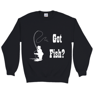 Got Fish? Fly Fishing! Novelty Sweatshirts Crewneck Pullover - CampWildRide.com