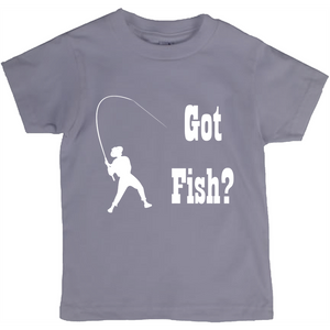 Got Fish? Work that Rod! Novelty Short Sleeve Youth T-Shirt