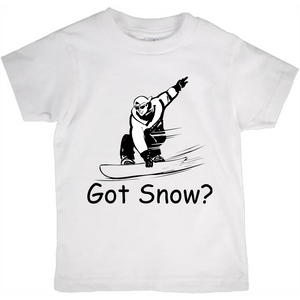 Got Snow? Shreddin with a Snowboard! Novelty Short Sleeve Youth T-Shirt - CampWildRide.com